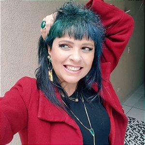 Pulseira Esmeralda Slim com Ródio Negro e Quartzo Cristal de Rocha Multifacetado Scandal