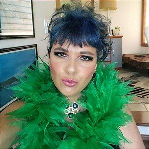 Estola de Festa, Noite e Eventos Alegria cor Verde