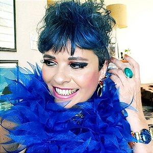 Estola de Festa, Noite e Eventos Alegria cor Azul Royal
