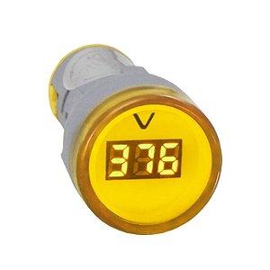 Voltímetro digital - Amarelo 60-500Vca