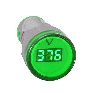 Voltímetro digital - Verde 60-500Vca