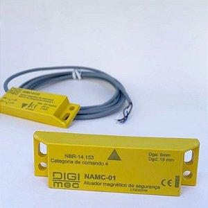 Sensor e Atuador magnéticos de segurança, NSMC-01/33+NAMC-01.