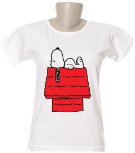 Camiseta Snoopy Casinha