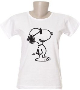 Camiseta Snoopy Óculos