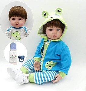 Bebê Reborn Menino Realista 48cm