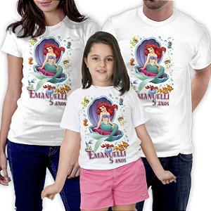Kit Camisetas Pai Mae Filho