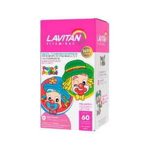 Lavitan Infantil - 60 Comprimidos Mastigáveis - Cimed Tutti Frutti