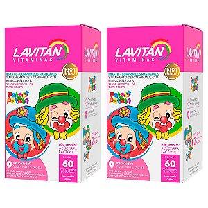 Lavitan Infantil - 2 unidades de 60 Comprimidos Mastigáveis - Cimed Tutti Frutti