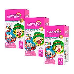 Lavitan Infantil - 3 unidades de 60 Comprimidos Mastigáveis - Cimed Tutti Frutti