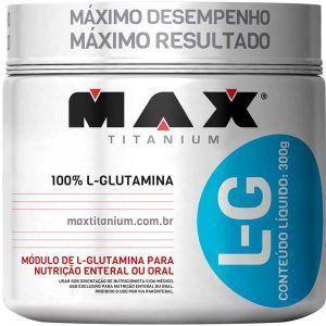 L-G Glutamina - 300 gramas - Max Titanium