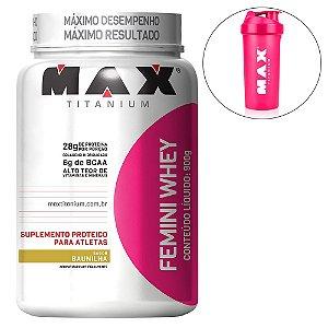 Femini Whey (c/ Proteína Isolada de Soja) - 900 gramas - Max Titanium