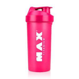 Coqueteleira Rosa - 600 ml - Max Titanium