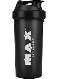 Coqueteleira Preta - 700 ml - Max Titanium