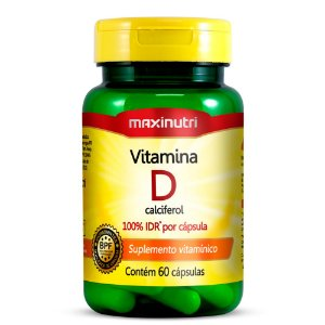 Vitamina D - 60 cápsulas - Maxinutri