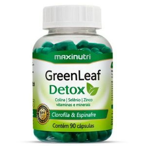 Green Leaf Detox - 90 cápsulas - Maxinutri