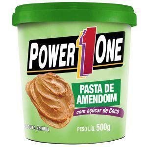 Pasta de Amendoim c/ Açúcar de Coco - 500g - Power1One val: 06/18