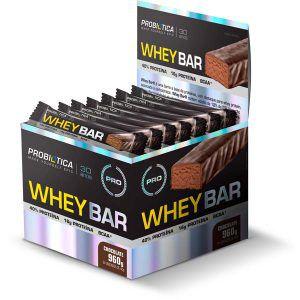 Whey Barra - 24 unidades de 40 gramas - Probiotica