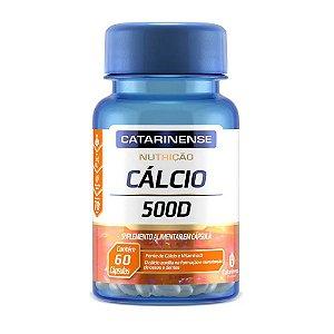 Cálcio 500 Vitamina D Catarinense 400mg 60 Cápsulas