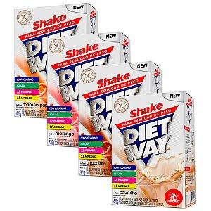 Diet Way Shake - 4 unidades de 420 gramas - Midway