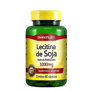 Lecitina de Soja - 60 cápsulas - Maxinutri