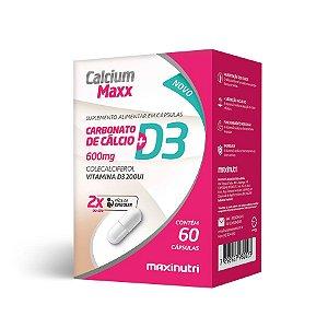 Calcium Maxx D3 (Cálcio + Vitam D) - 60 cápsulas - Maxinutri