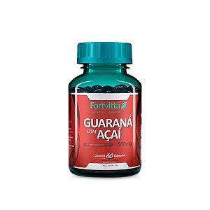 Guaraná com Açaí - 60 cápsulas - Fortvitta
