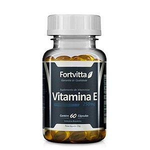 Vitamina E 250mg - 60 cápsulas - Fortvitta