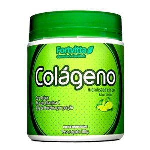 Colágeno Hidrolisado + Vitamina C - Limão - 300 Gramas - Fortvitta