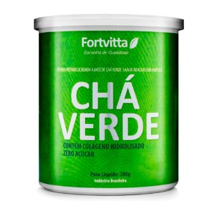 Chá Verde + Colágeno Hidrolisado - 200 gramas - Fortvitta