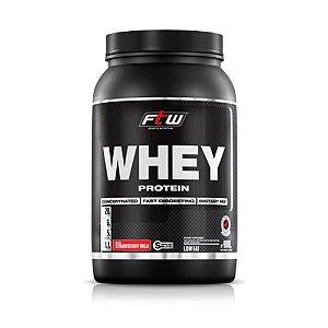 Whey Protein FTW Morango - 900 Gramas - Fitoway