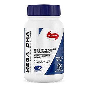 Mega DHA  1500mg Dha + 300mg Epa - 120 cápsulas - Vitafor