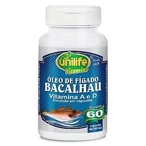 Óleo de Fígado de Bacalhau 350mg - 60 cápsulas - Unilife