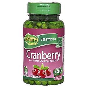 Cranberry - 120 cápsulas - Unilife