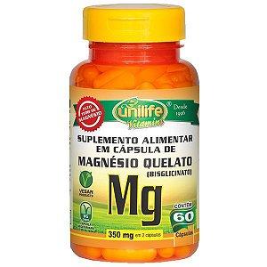 Magnésio Quelato - 60 Cápsulas - Unilife