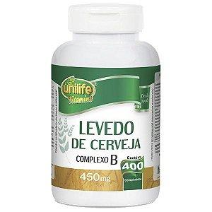 Levedo de Cerveja - 400 Comprimidos - Unilife
