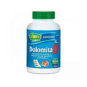Dolomita com Vitamina D - 120 Cápsulas - Unilife
