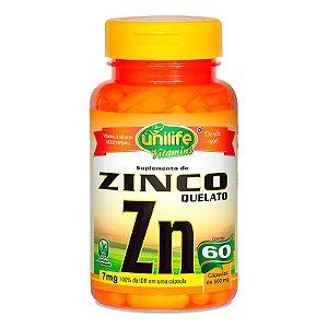 Zinco Quelato - 60 Cápsulas - Unilife