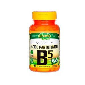 VItamina B5 (Ácido Pantotênico) - 60 Cápsulas - Unilife