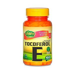 Vitamina E (Tocoferol) - 60 Cápsulas - Unilife
