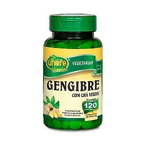 Gengibre com Chá Verde - 120 Comprimidos - Unilife