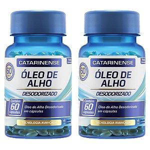 Óleo de Alho Desodorizado - 2x 60 cápsulas - Catarinense