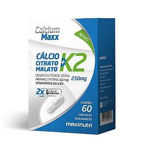 Calcium Maxx + Vitamina K2 - 60 Cápsulas - Maxinutri