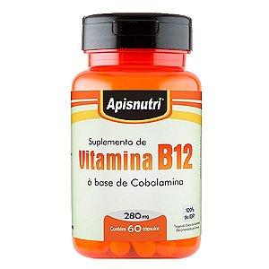 Vitamina B12 (cobalamina) - 60 Cápsulas - Apisnutri