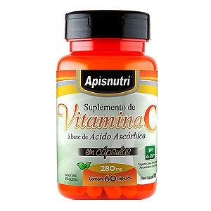 Vitamina C (Ácido Ascórbico) - 60 Cápsulas - Apisnutri