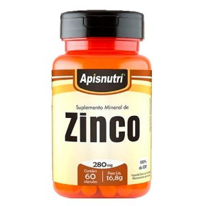 Zinco - 60 Cápsulas - Apisnutri