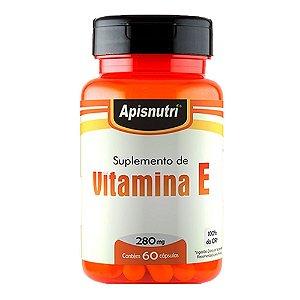 Vitamina E (Tocoferol) - 60 Cápsulas - Apisnutri