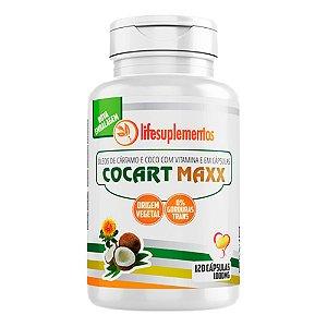 Cocart Maxx Cártamo e Coco - 120 Cápsulas - Melcoprol