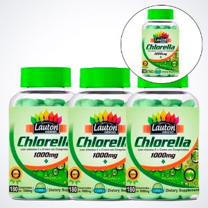 Chlorella 1000mg - 180 comprimidos - Lauton