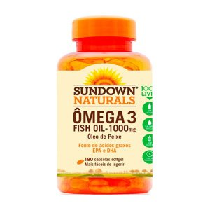 Ômega 3 Fish Oil - 180 Cápsulas - Sundown