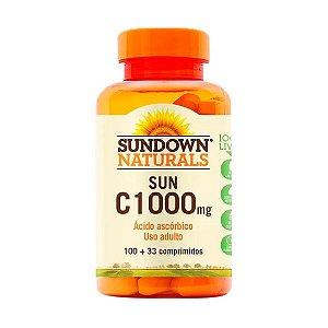 Vitamina C 1000mg Sundown Ácido Ascórbico 100 Comprimidos